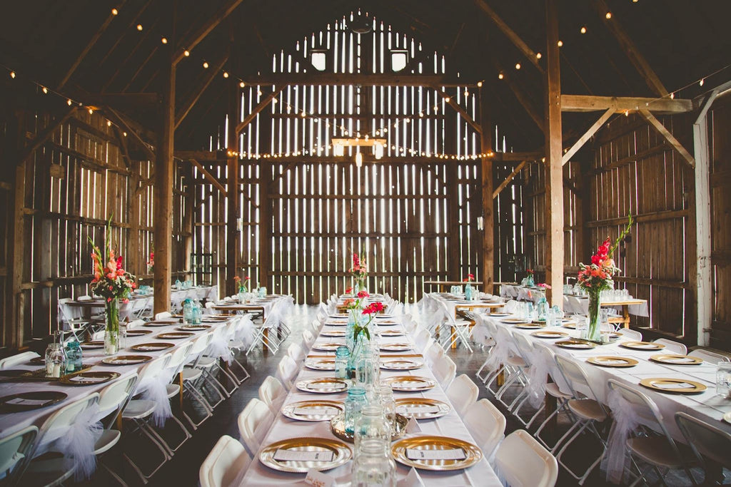 Reception Dinner  | Wisconsin Country Wedding | Kennedy Blue