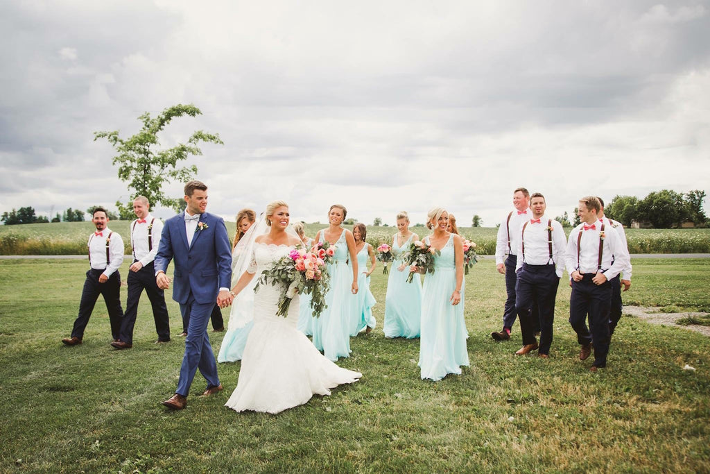Full Bridal Party  | Wisconsin Country Wedding | Kennedy Blue