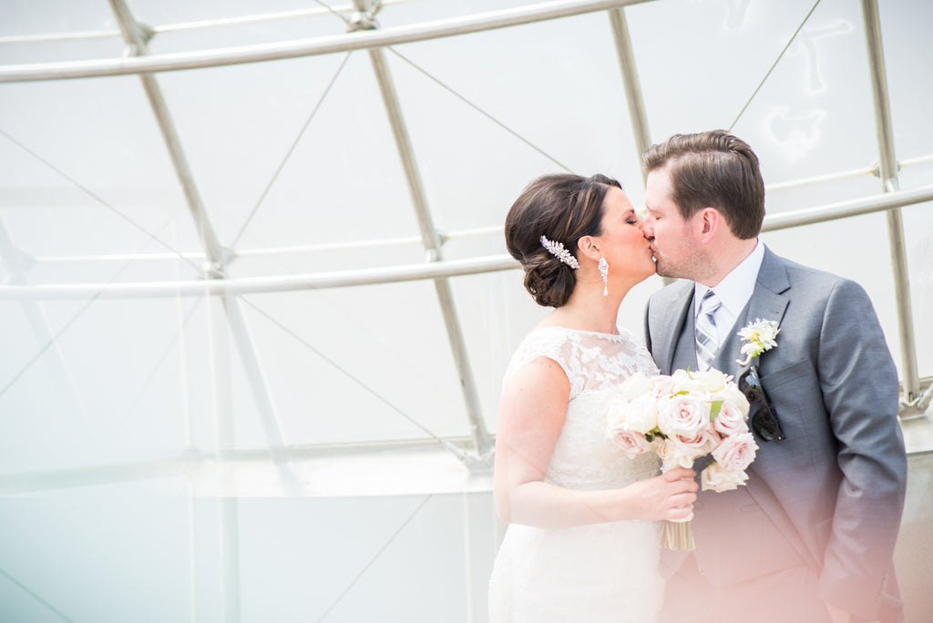 A Modern Wedding Filled with Romance & Glamour - See the full gallery here!