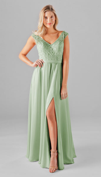 Morgan is a gorgeous embroidered lace bridesmaid dress! | Kennedy Blue