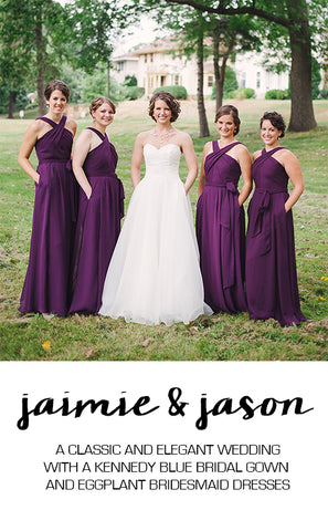 Real Wedding Featuring Jaimie and Jason