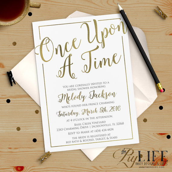 these once upon a time bridal shower invitations are so sweet 52