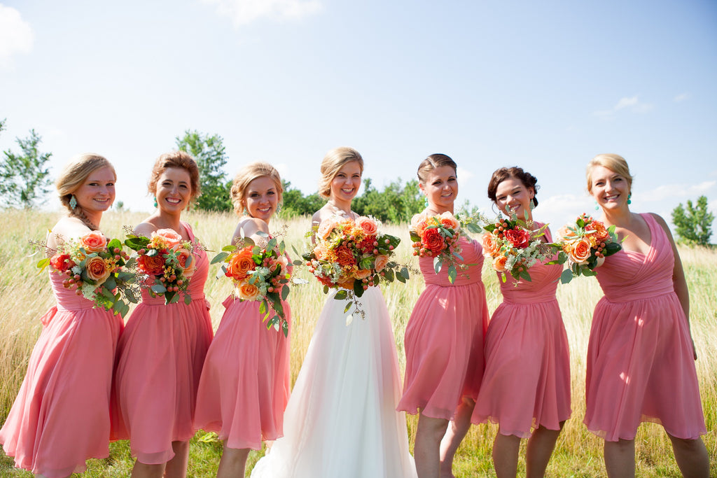 Kennedy Blue Coral Bridesmaid Dresses