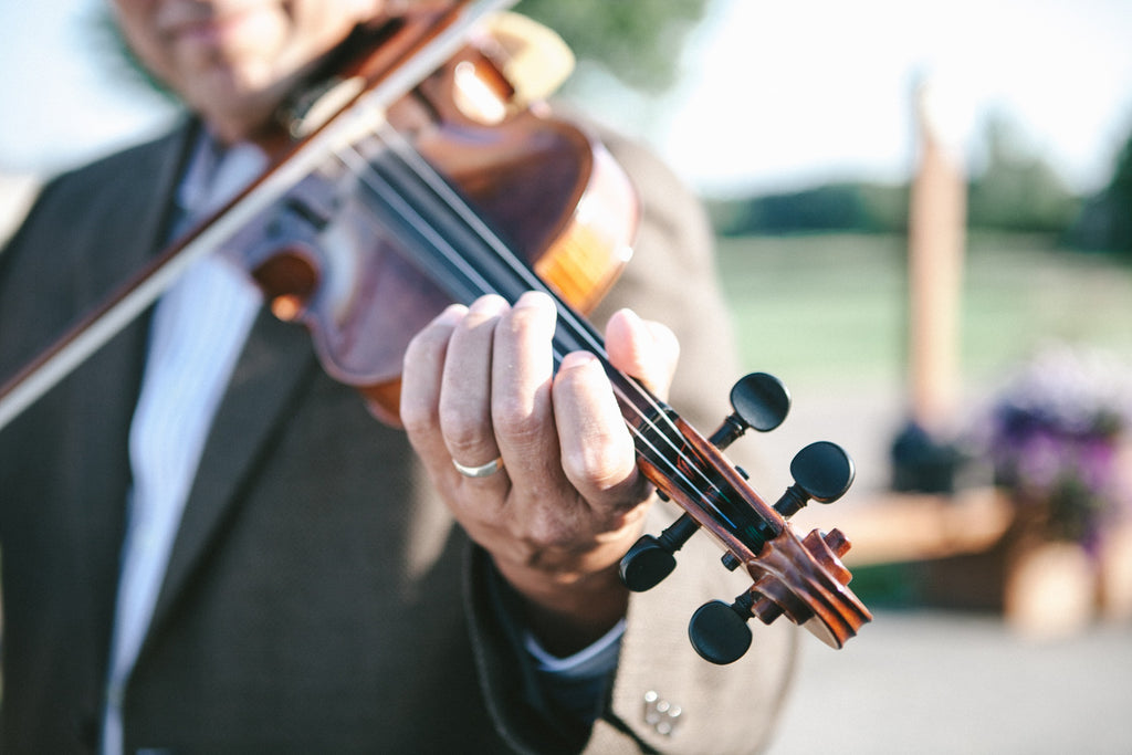 Live music at the ceremony! | An Outdoor Wedding That's Simply Charming | Kennedy Blue