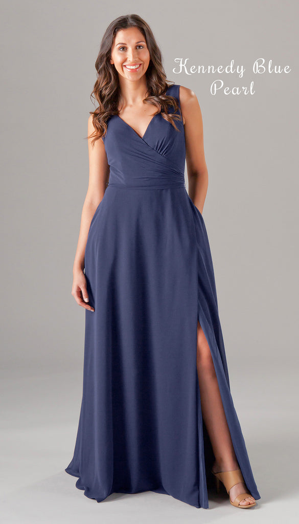 A New V-Neck Chiffon Bridesmaid Dress From the Kennedy Blue Spring 2017 Collection