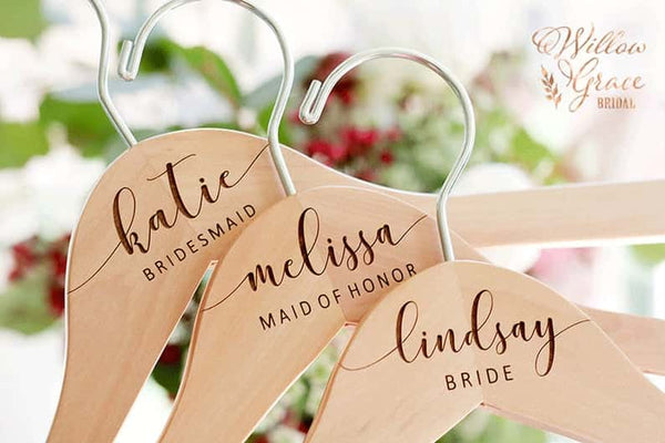 Personalized Bridesmaid Hangers for Bridesmaid Robes