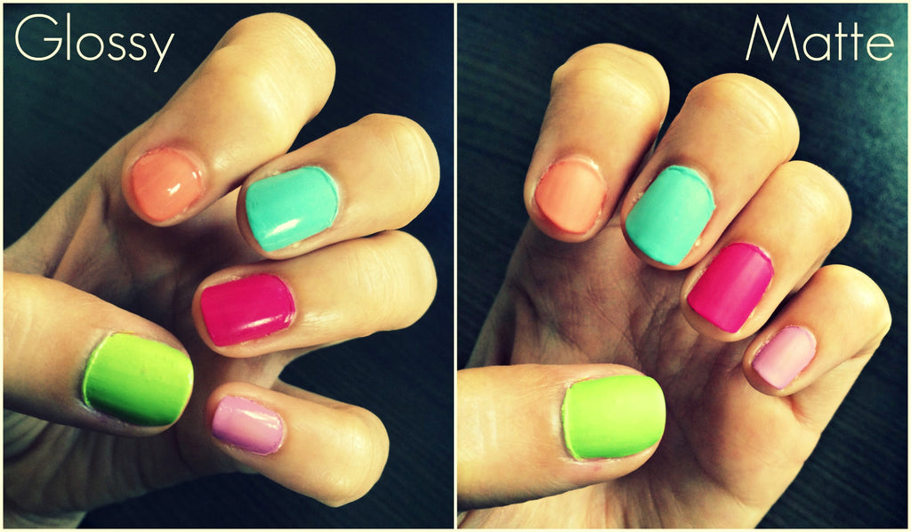 Summer Inspired Matte Nails vs Gloss Nails
