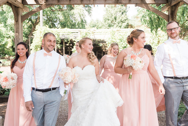 bridal party walking together | How to Plan Your Wedding Party for Your Gay Wedding