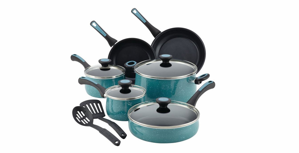 This speckled pots and pans set is perfect for your Amazon Wedding Registry | The Bride's Ultimate Guide to Creating the Perfect Wedding Registry | Kennedy Blue