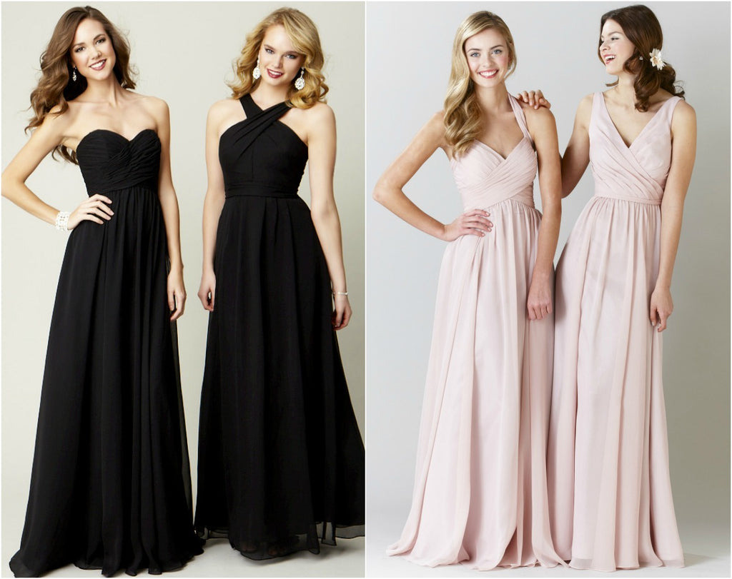 Style tips for pregnant bridesmaids gorgeous chiffon gowns for pregnant bridesmaids ombrellifo Choice Image