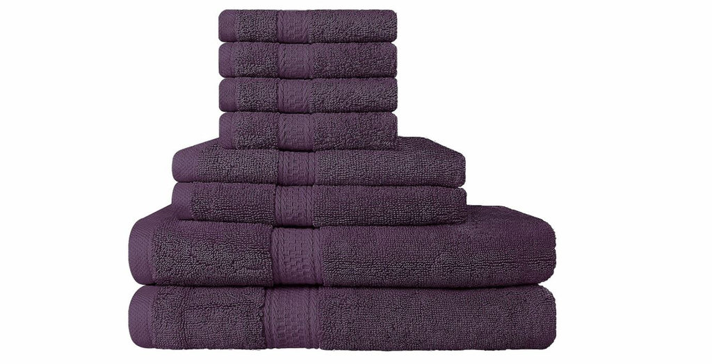 Towels are always a great gift! This 8 piece premium plum set is a useful gift  | The Bride's Ultimate Guide to Creating the Perfect Wedding Registry | Kennedy Blue