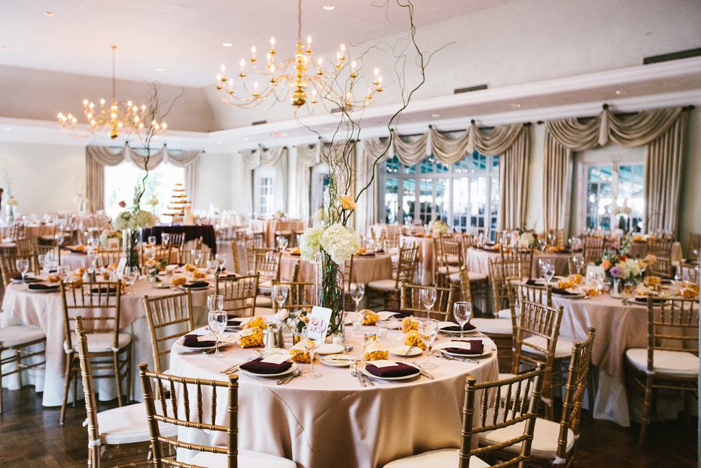 Gorgeous wedding reception decorations! | A Chic Purple and Gold Pittsburgh Wedding