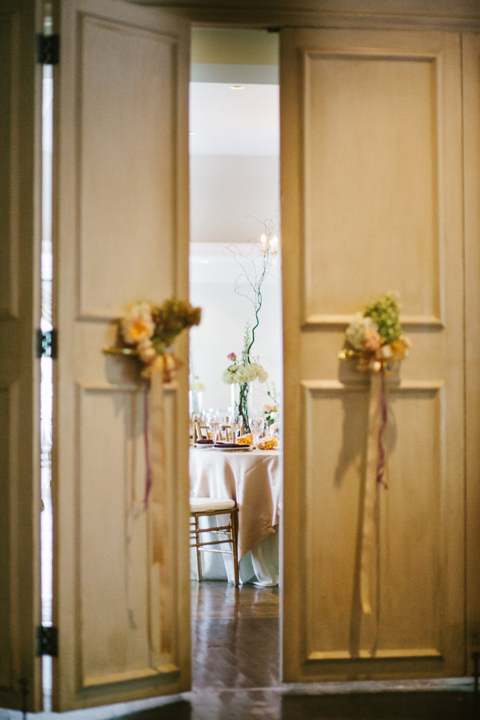A peek into the wedding reception | A Chic Purple and Gold Pittsburgh Wedding