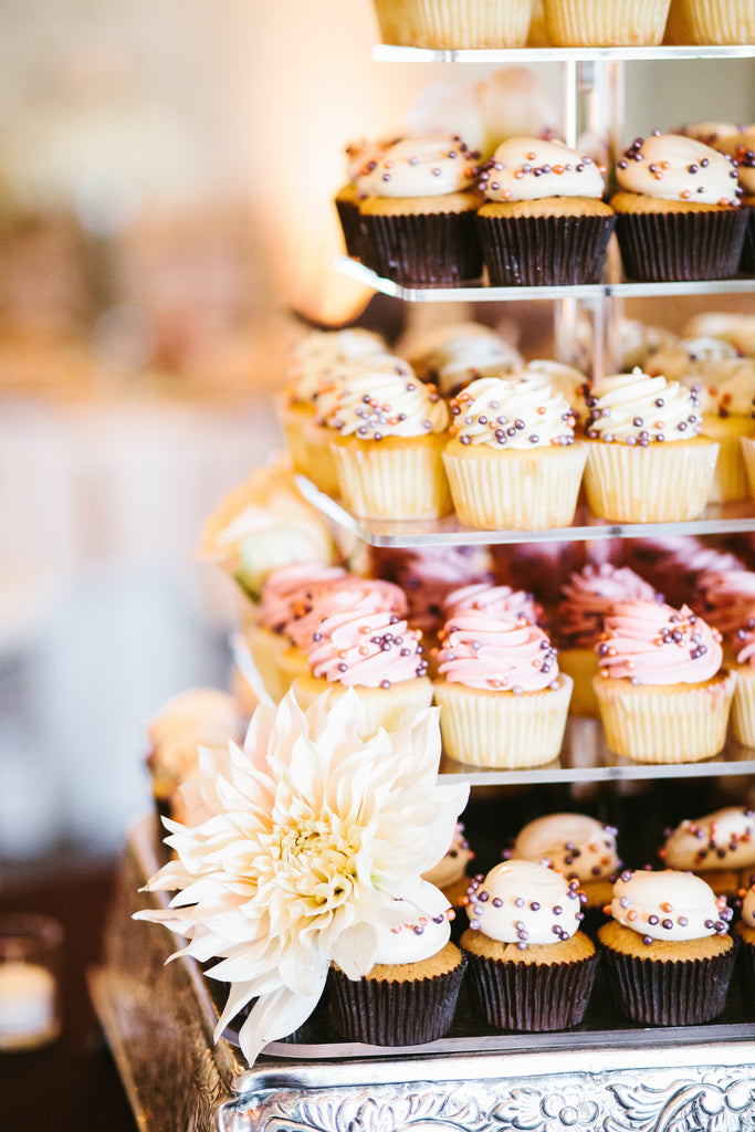 Wedding cupcakes | A Chic Purple and Gold Pittsburgh Wedding