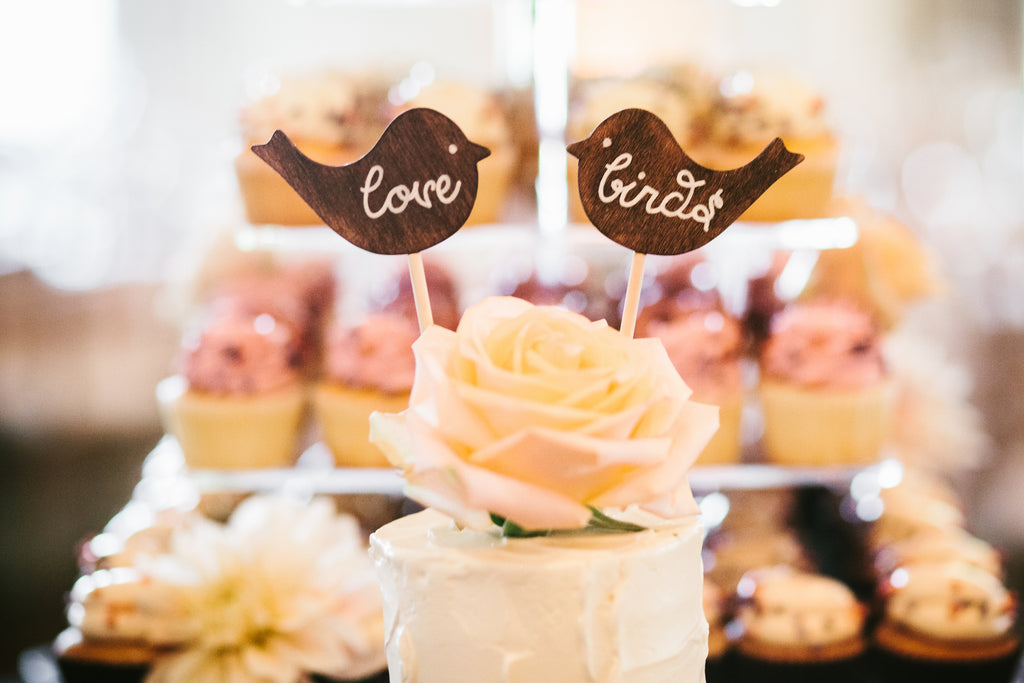Wedding cake toppers | A Chic Purple and Gold Pittsburgh Wedding