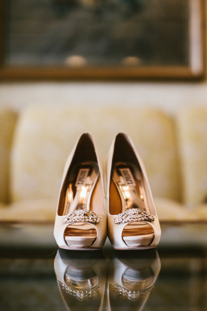 Wedding shoes for the bride | A Chic Purple and Gold Pittsburgh Wedding