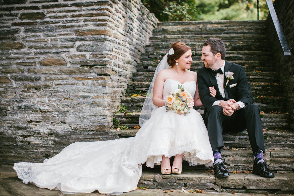 A Chic Purple and Gold Pittsburgh Wedding