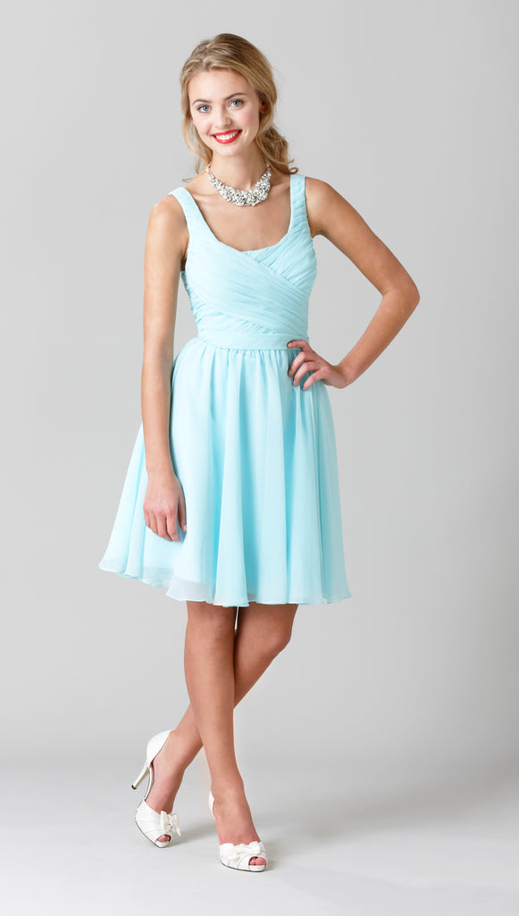 Kennedy Blue Chiffon Quinn Bridesmaid Dress in Mint