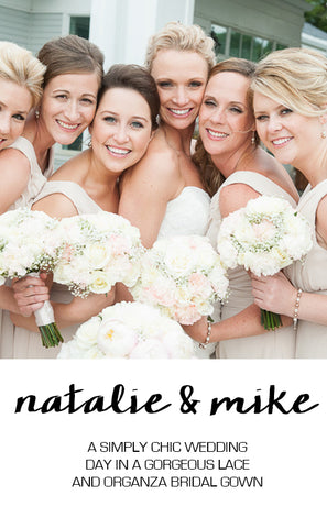 Real Wedding Featuring Natalie and Mike
