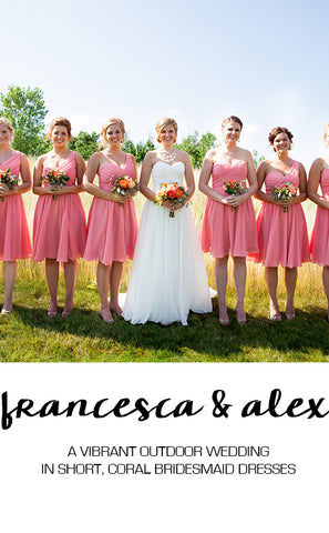 Real Wedding Featuring Francesca and Alex