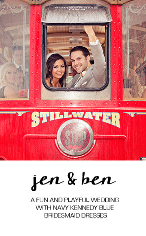Real Wedding Featuring Jen and Ben