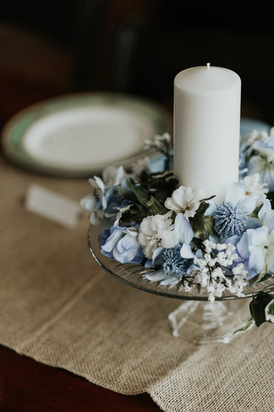 blue wedding centerpieces | Our Favorite Long Light Blue Bridesmaid Dresses