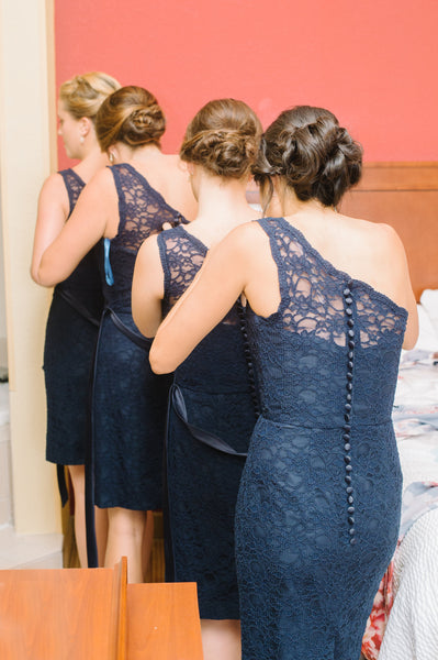 Getting your bridesmaids measured is one of the most important steps to bridesmaid dress shopping! | How to Make Bridesmaid Dress Shopping Less Stressful | Kennedy Blue