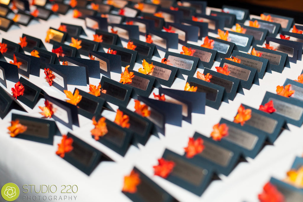 Navy blue, orange, and red invites | Kennedy Blue
