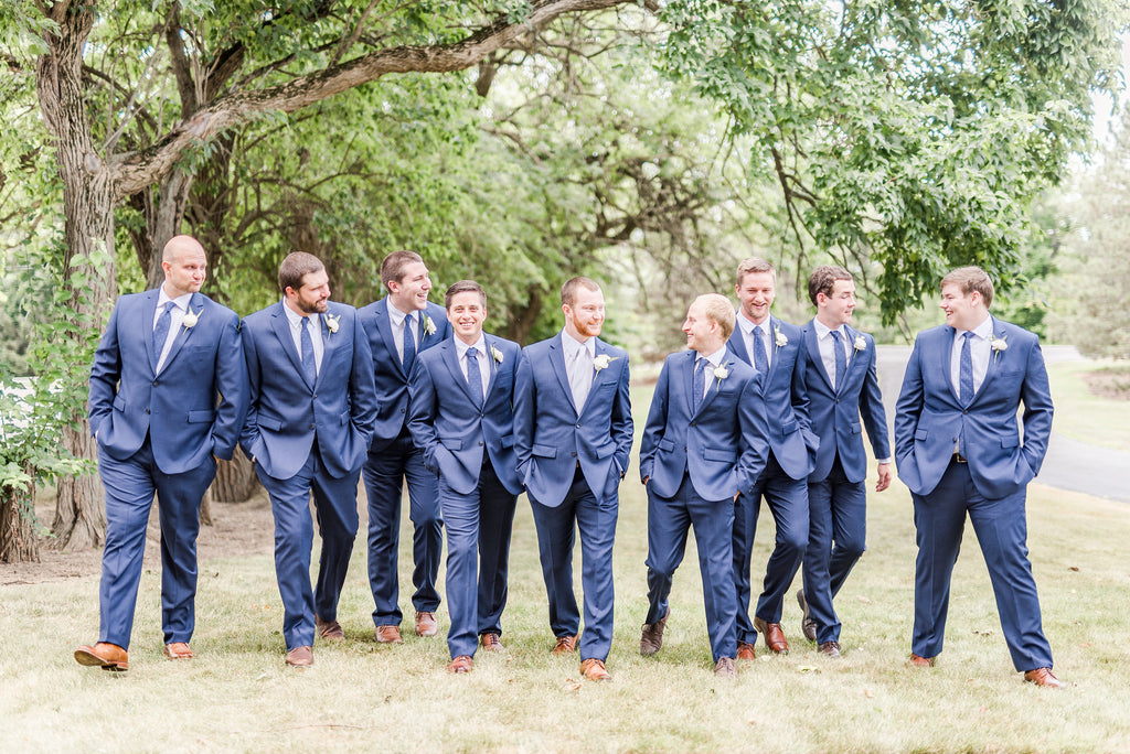 Kennedy blue groomsmen