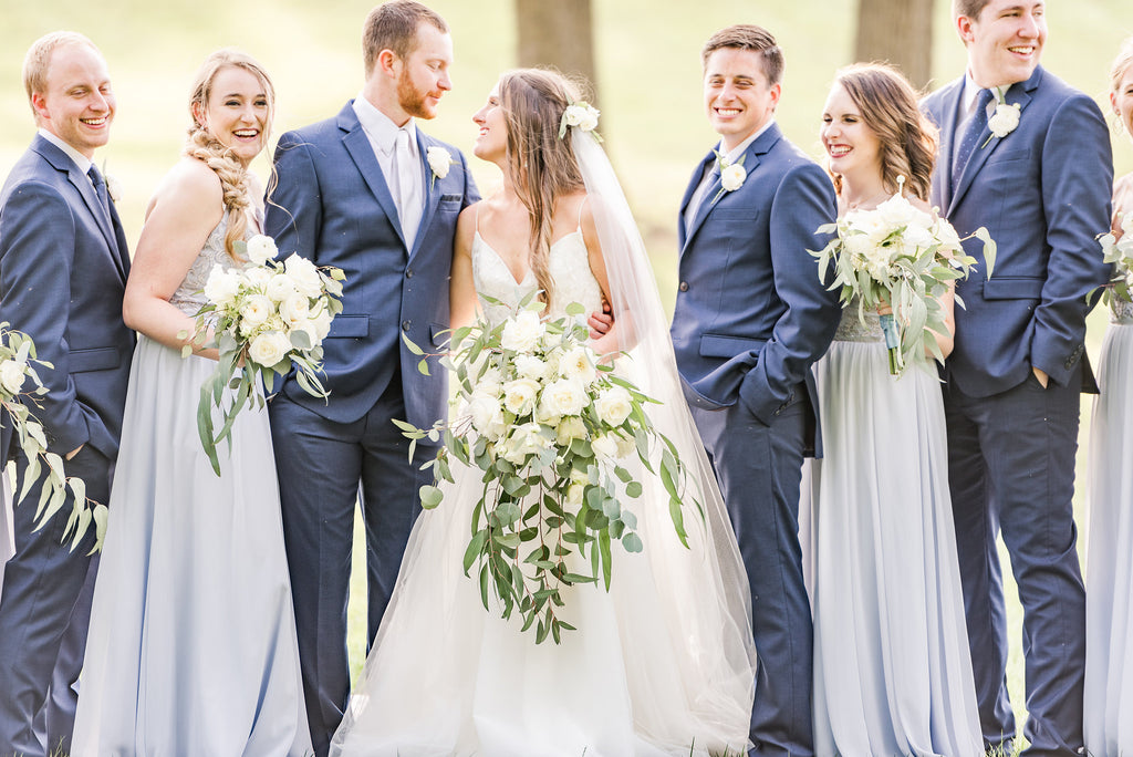 Kennedy blue bridal party