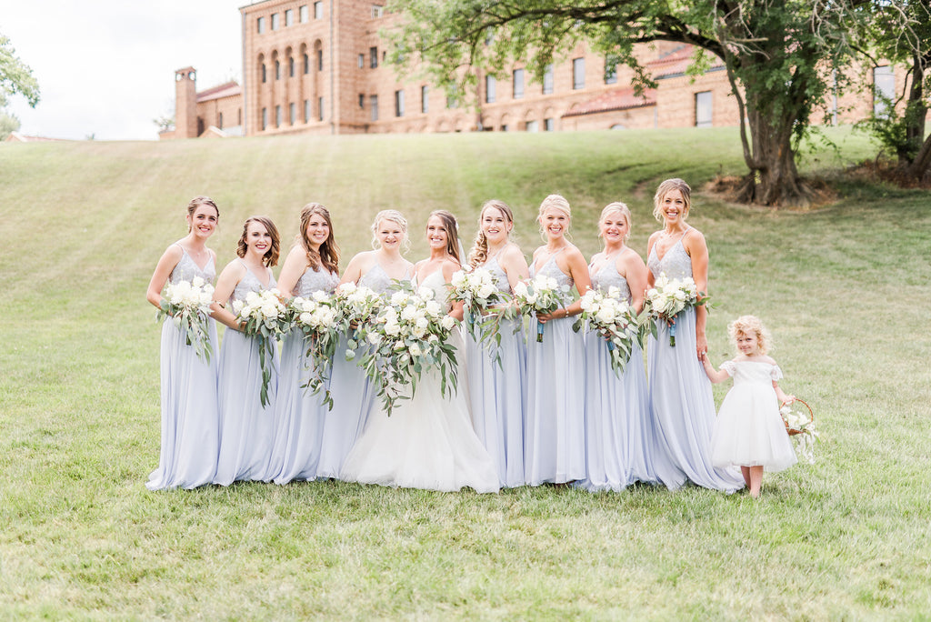 Kennedy blue cameron bridesmaid dress in fog