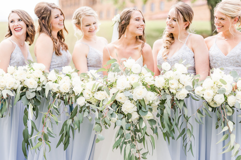 baby blue bridesmaid dresses