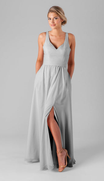 Kennedy blue Riley | Long Grey Bridesmaid Dresses
