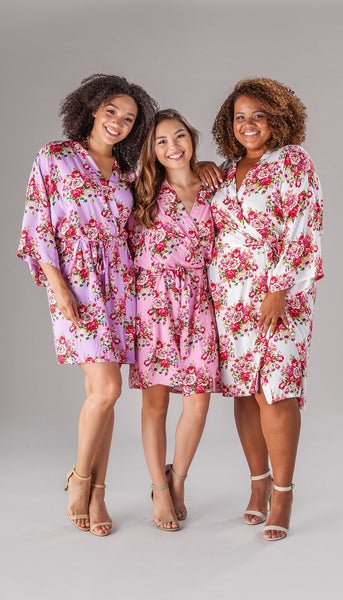 floral robes kennedy blue | Bride Stuff You Need