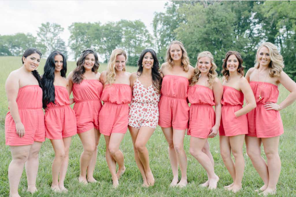 Bridesmaid rompers by SandyWatersStore