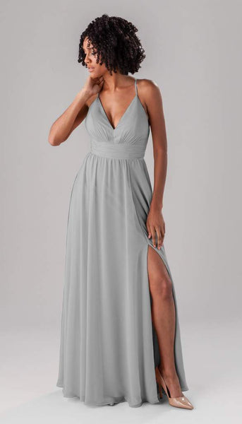 Kennedy blue Ryan | Long Grey Bridesmaid Dresses