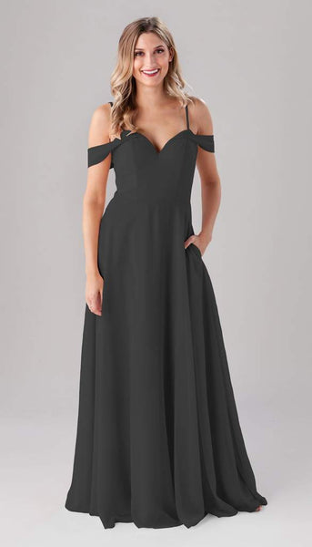 Kennedy blue Samantha | Long Grey Bridesmaid Dresses