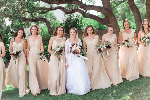 champagne bridal party