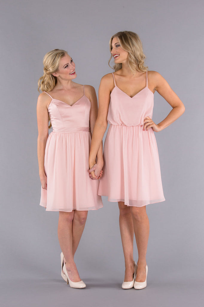 Mix and Match Satin and Chiffon Bridesmaid Dresses