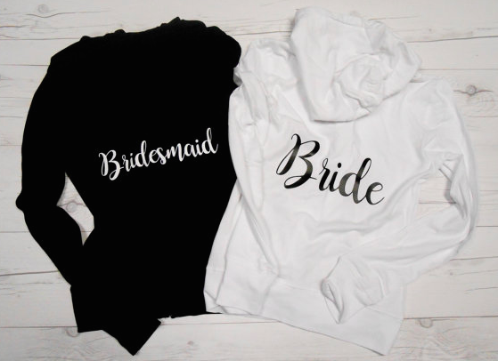 These matching bridesmaid hoodies are a great way to say thank you to your bridesmaids! | 24 Bridesmaid Gifts Ideas Your Girls Will Love! | Kennedy Blue | BrideBikini