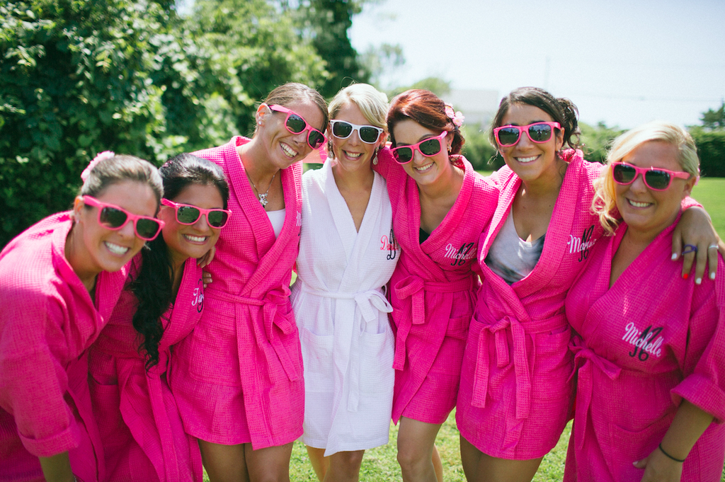Matching bridesmaid robes are adorable! | 26 Photos To Take With Your 'Maids | Kennedy Blue | We Laugh We Love Photography