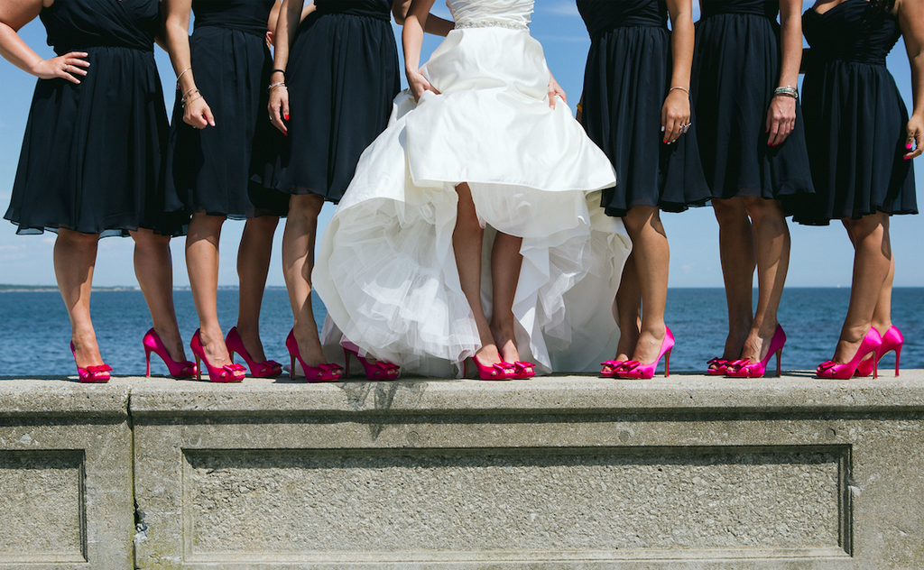 A picture of the bride and bridesmaids shoes is so cute! | 26 Photos To Take With Your 'Maids | Kennedy Blue | We Laugh We Love Photography