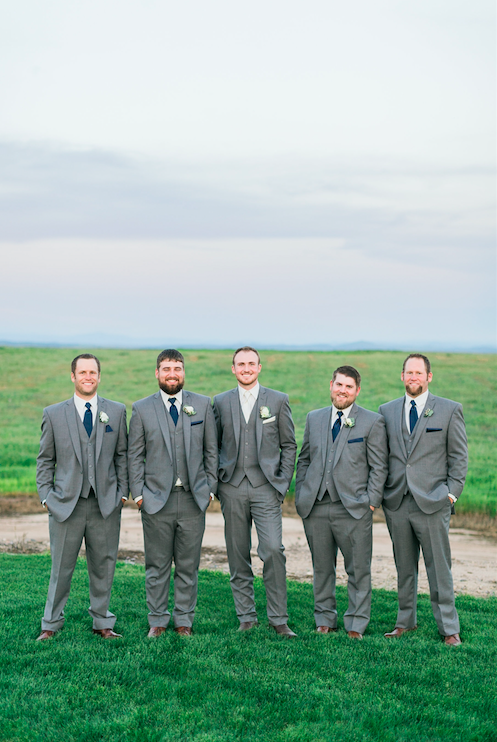 These handsome fellas are all ready for the wedding! | An Elegant, Blush Pink, Rustic Wedding | Kennedy Blue | Catherine Leanne Photography