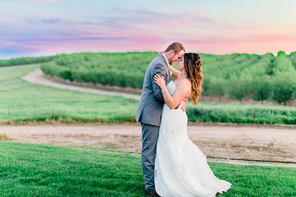 Beautiful landscape wedding photo! | An Elegant, Blush Pink, Rustic Wedding | Kennedy Blue | Catherine Leanne Photography