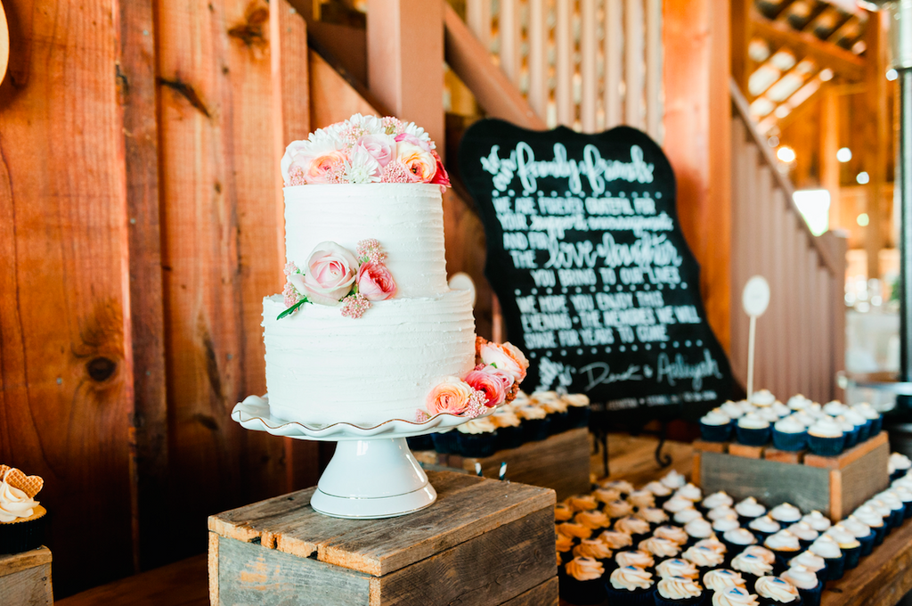 Beautiful cake for a rustic wedding! | An Elegant, Blush Pink, Rustic Wedding | Kennedy Blue | Catherine Leanne Photography