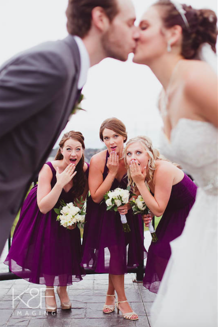 Cute photo of the bridesmaid admiring the bride and groom! | 26 Photos To Take With Your 'Maids | Kennedy Blue | K&E Imaging