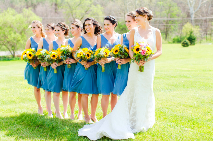 Beautiful bridesmaid photo! | 26 Photos To Take With Your 'Maids | Kennedy Blue | Emily Sacra Photography