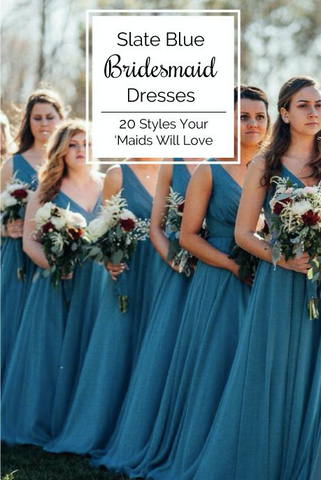 20 Slate Blue Bridesmaid Dresses Worth Obsessing Over   Kennedy Blue