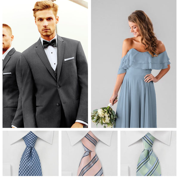 a702b5100d7e Your Guide to Coordinating Groomsmen and Bridesmaids | Kennedy Blue | Jim's  Formal Wear