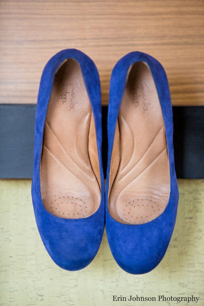 Royal blue flats for your big day